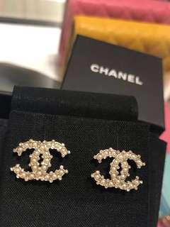 Chanel Earrings Pearls & Crystals