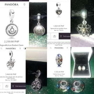 Original Pandora charms murano family pendant heart openwork two tone forklore