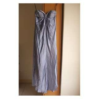 Silver Blue Dinner Gown