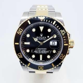 BRAND NEW Rolex Submariner Two Tone Black