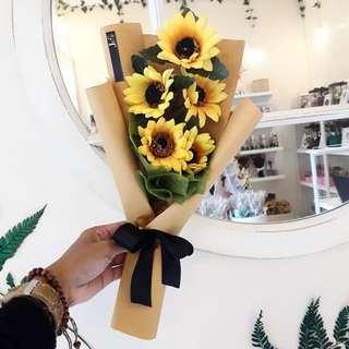 Hadiah Buket Bunga Mini Sun Flower Bouquet