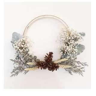 Floral Wreath Christmas Hiasan gantungan dinding cantik