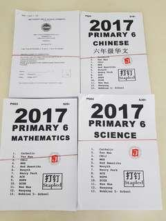 2017 primary 6 papers (english, mathematics, science, chinese)
