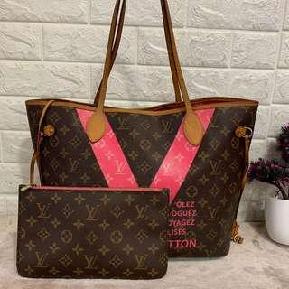LV Neverfull MM with purse