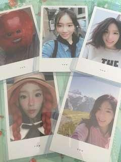Taeyeon TFU Photocards.