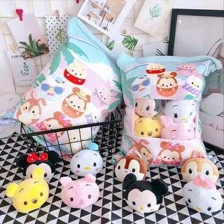 Premium Quality Tsum Tsum Pillow Plushie Zip Cushion