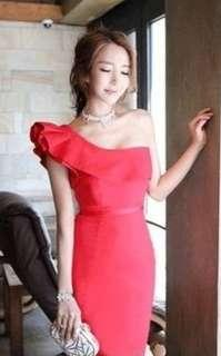 🚚 BN SALE Stunning Red Cocktail Toga Dress