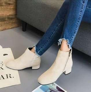 Low Heels Zipper Mrtin Boots