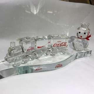 可樂coca cola 聖誕水晶火車