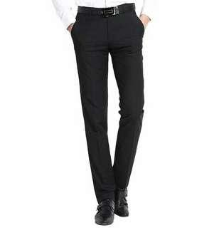 Celana Kerja Pria, Celana Bahan Pria Slim Fit