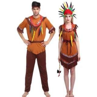 Red Indian Adult Costume