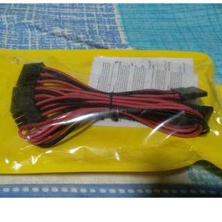 Corsair CP-8920190 Premium Individually Sleeved SATA Cable (4xSATA to PSU)