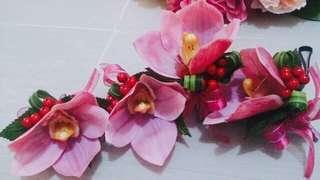 蕙蘭 絲花 襟花 結婚