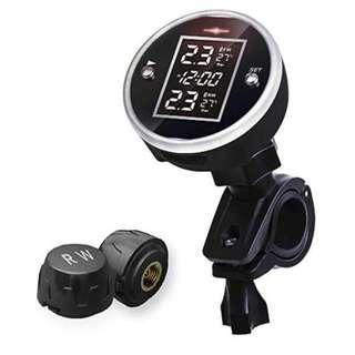 Motorcycle Tire Pressure Monitoring System TPMS Wireless Waterproof with 2pcs External Sensor