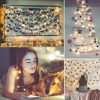 Solar Powered String Lights 100 LED Starry String Lights, Halloween Copper Wire Fairy Lights, Indoor/Outdoor Ambiance Lighting, for Gardens, Patios, Homes, Parties, Environmental friendly Bedroom