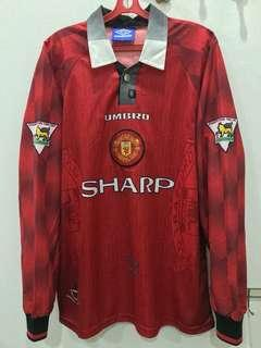 🔥YEAR END SALE🔥 *Rare* Manchester United 1996/98 Home Kit Longsleeve