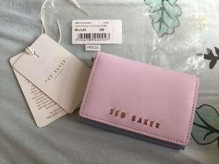 Ted Baker 粉藍拼粉紫 Card Holder 小銀包