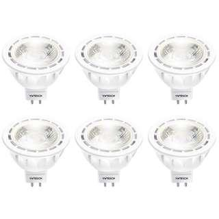YWTESCH  MR16 LED Bulbs YWTESCH 50W Halogen Bulbs Equivalent, UL Listed GU5.3 LED Lights Neutral White 4000K, 12V 5W 500lm, 40°Beam Angle, Non-Dimmable, 6 Pack •E162•