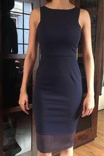Doublewoot Navy Blue Bodycon Dress