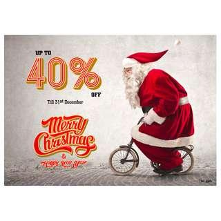 Christmas sale up to 40% off
