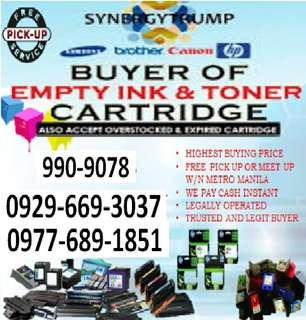 We buy empty ink cartridges and toners