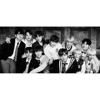 WannaOne Photo Essay - Calligraphy Mini Poster + Clear Bookmark