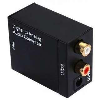DA Digital to R / L Analog Audio Converter Switcher •E192•