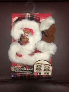 鬆弛熊衣服聖誕