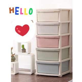 🚚 Plastic Cabinet Chest of Drawers High Quality 5 Tiers
