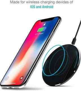 TOZO Wireless Charger Fast Charging Pad [Black] •E207•