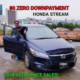 Honda Stream. ZERO DOWNPAYMENT. For Sales|Rental