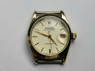 Vintage Rolex 6466 Gold Plated Winding Watch (30 mm)