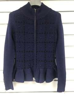🈹Brand new 💯 wool knitted cardigan, sweater 全新羊毛拉鍊外套