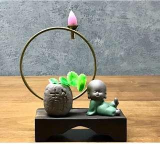 Incense Burner Backflow - Relaxed Monk