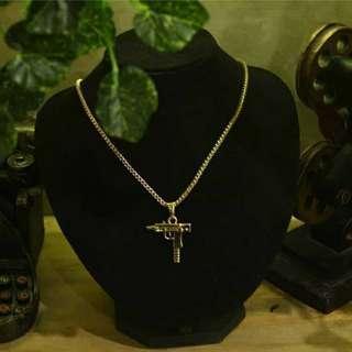 Necklace Pendant Uzi Gold