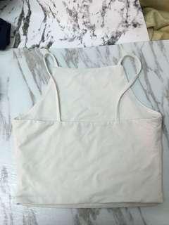 White halter top