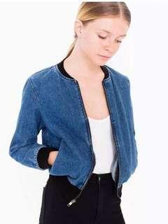 American apparel denim bomber
