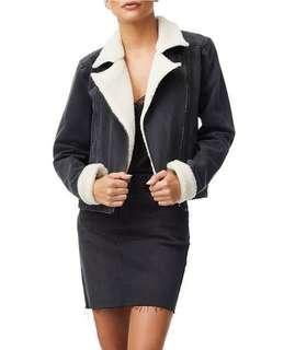Sports girl shearling jacket