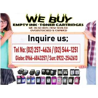 TRUSTED AND LEGIT BUYER OF EMPTY INK AND TONER CARTRIDGES