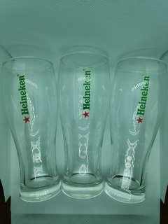 Heineken Pint Glasses (3 in a set)