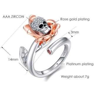 Rose Skull Ring