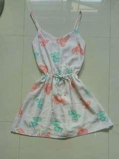 Ribbon dress/romper