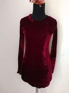 NEW!! BODYCON VELVET DRESS