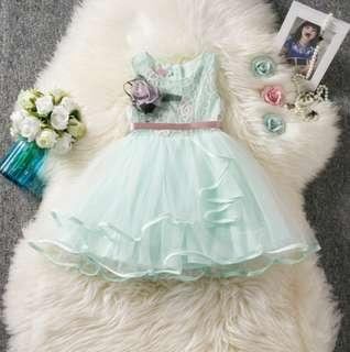 🚚 🌟PM for price🌟 🍀Girl Sleeveless Elegant Tulle Tutu Dress🍀