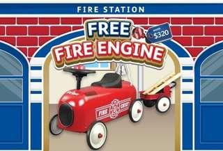 Ride-on Fire Engine Car