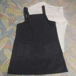 Set cloth t shirt with school dress