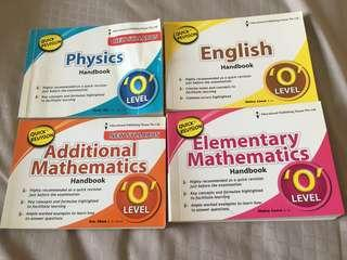 O Level Quick Revision Handbooks