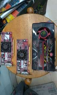 ATI HDMI顯卡三張 兩張正常一張過熱