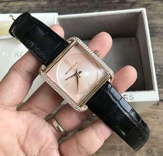 Sale‼️MK Lake Rosegold Glitz Genuine Leather Ladies Watch Php 3,500