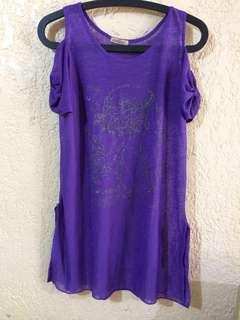 See through Purple Dress